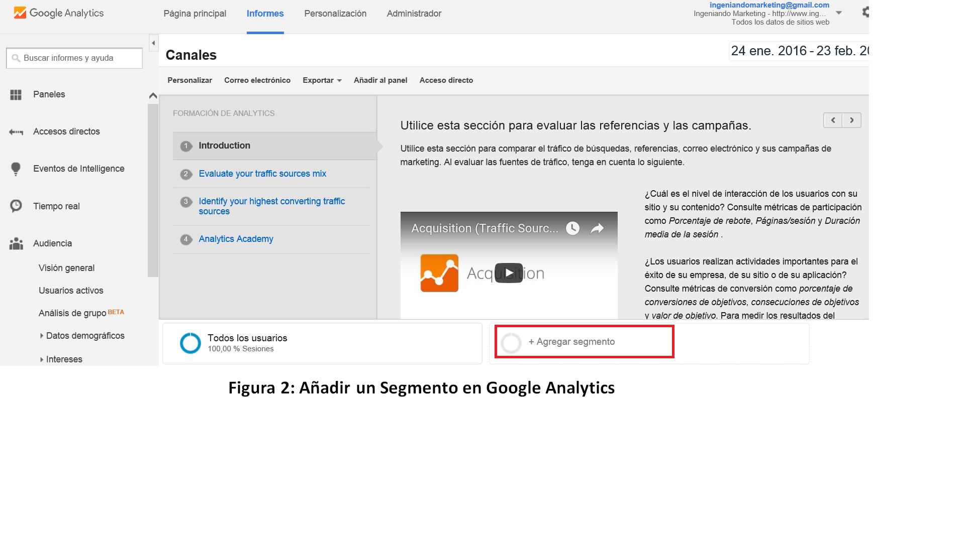 Segmento para controlar el Spam en Google Analytics