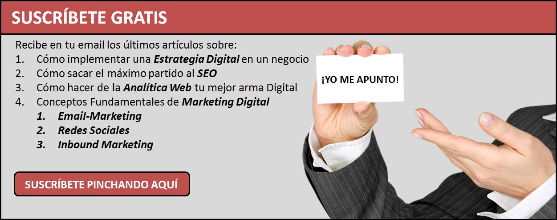 Suscripción Blog Ingeniando Marketing